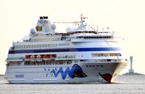 AIDAcara in Kiel. Foto: AIDA Cruises