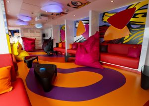 Die Teenslounge. Foto: AIDA Cruises