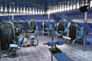Toller Ausblick aus dem Fitnessstudio. Foto: Costa Crociere
