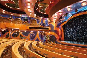 Das Theater lädt zu tollen Vorstellungen an Bord ein. Foto: Costa Crociere