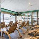 Der Ruhebereich im Spa bietet schöne Aussichten. Foto: MSC Crociere
