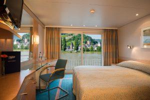 Eine der 2-Bett Kabinen, wie ihr sie auf dem Mittel- und Oberdeck findet. Foto: Nicko-Cruises