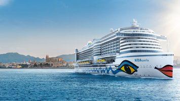 """2017 wird die """"AIDAperla"""" nach Mallorca starten und von dort durchs Mittelmeer kreuzen. Foto: AIDA Cruises"""