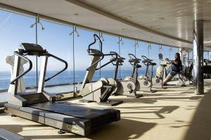 Fitness mit Blick auf das Meer. Foto: MSC Crociere