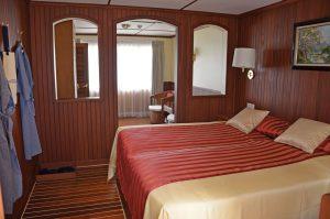 Eine Kabine auf dem Oberdeck. Foto: Nicko Cruises