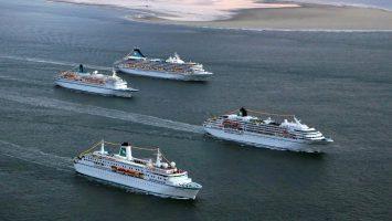 Vier Schiffe mit reichlich TV Erfahrung. Foto: Phoenix Reisen