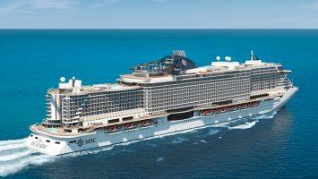 """Die """"MSC Seaside"""" ist eines von zwei neuen Schiffen der Reederei. Es wird im November 2017 ausgeliefert. Foto: MSC Cruises"""