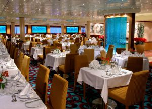 Das Hauptrestaurant auf der Norwegian Dawn. Foto: Norwegian Cruise Line
