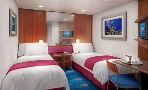 Eine der geräumigen Innenkabinen. Foto: Norwegian Cruise Line
