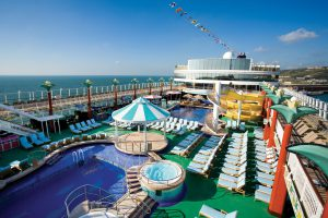 Das Pooldeck. Foto: Norwegian Cruise Line
