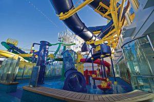 Der extra für Kinder eingerichtete Bereich im Aqua Park. Foto: Norwegian Cruise Line