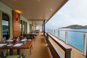 Cagneys Steakhouse, hier habt ihr neben besten Steaks eine grandiose Aussicht. Foto: Norwegian Cruise Line