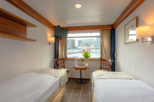 Eine 2-Bett Kabine. Foto: DCS-Touristik