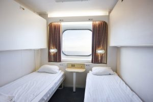 Eine 4-Bett Außenkabine. Foto: DFDS Seaways