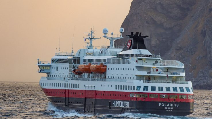 Die MS Polarlys. Foto: Hurtigruten AS/ Ørjan Bertelsen