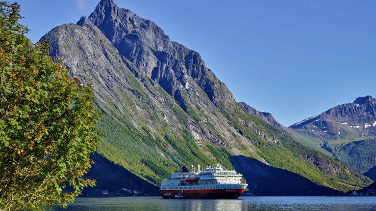 Die MS Finnmarken. Foto: Hurtigruten AS/Ørjan Bertelsen