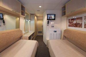 Eine der komfortablen Kabinen. Foto: 1AVista Reisen