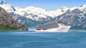 Die Norwegian Bliss vor Alaska. Foto: Norwegian Cruise Line