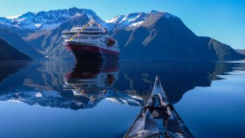 Die MS Nordlys. Foto: Hurtigruten AS