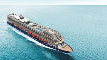 Die neue Mein Schiff 1 wird in Hamburg getauft. Foto: TUI Cruises