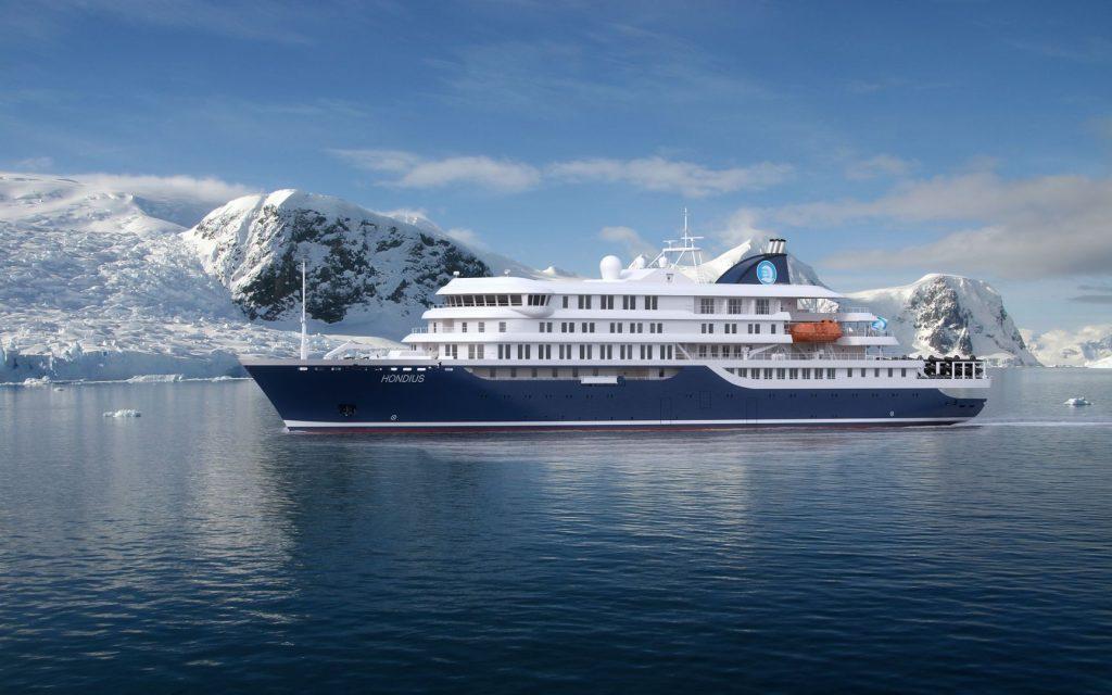 Mit der Polar-Klasse 6 ist das schiff bestens gerüstet. Foto: Oceanwide Expeditions