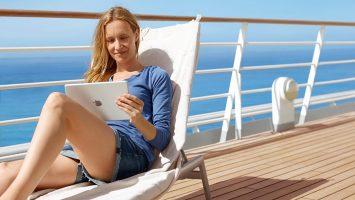 Wenn die Nachricht eintrifft, startet der Urlaub mit dem Schiffshorn. Foto: AIDA Cruises