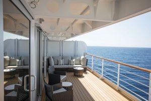 Der Der Suiten mit großzügigen Ballkon. Foto: Regent Seven Seas Cruises