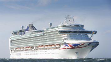 Die Azura. Foto: P&O Cruises