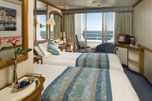 Eine geräumige Balkon Kabine. Foto: P&O Cruises