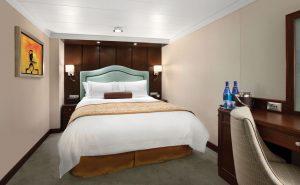 Eine der großen Innenkabinen. Foto: Oceania Cruises