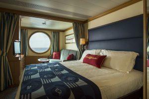 Eine Außenkabine an Bord der Disney Wonder. Foto: Disney Cruise Line/Matt Stroshane