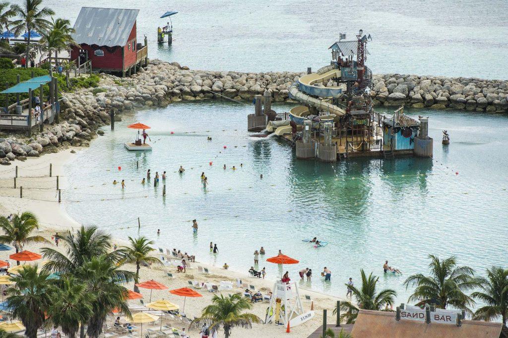 Der große Spielbereich am Pelican Plunge auf Castaway Cay. Foto: Disney Cruise Line/Matt Stroshane