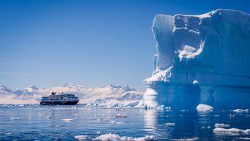 Die Midnatsol in der Antarktis. Foto: Hurtigruten