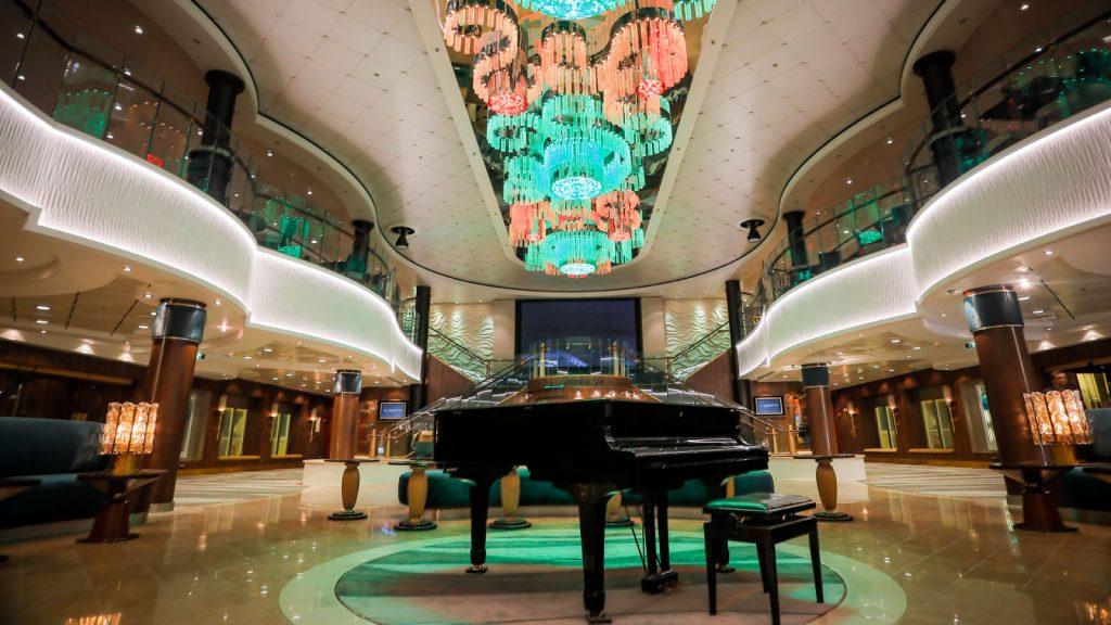 Das neu gestaltete Atrium an Bord der Norwegian Jade. Foto: Norwegian Cruise Line