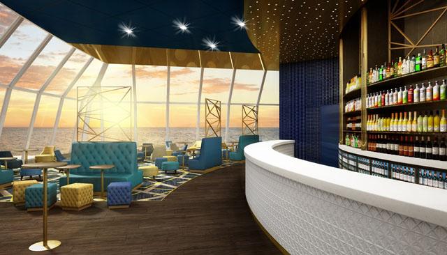 So wird die Indigo Bar an Bord der TUI Explorer aussehen. Foto: Thomson Cruises