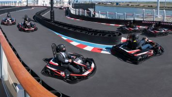 Kart-Bahn an Bord der Norwegian Joy. Foto: Norwegian Cruise Line