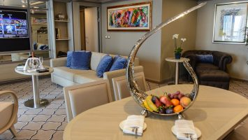 Neue Interior Details enthüllt. Die Silver Muse Balsorano Owner's Suite. Foto: Silversea
