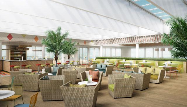 Das mediterane Restaurant mit Lichtdurchfluteter Decke. Foto: Thomson Cruises