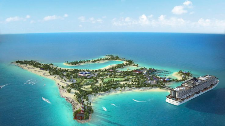 Das Ocean Cay MSC Marine Reserve in der Karibik. Foto: MSC Kreuzfahrten