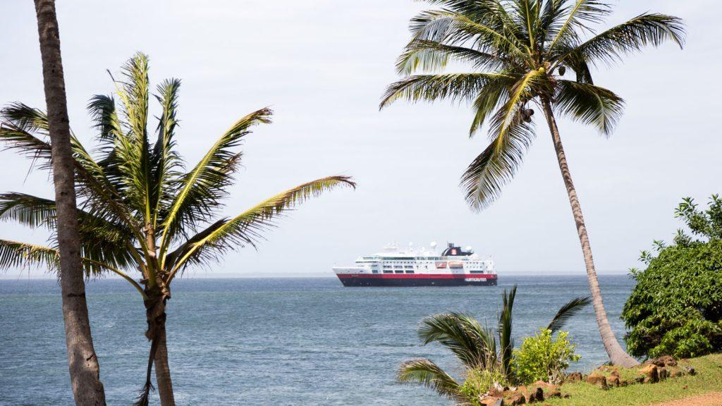 Vor der Teufelsinsel in Französisch Guayana. Foto: Hurtigruten/Gemma Roland