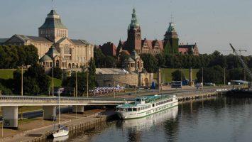 Die MS Mona Lisa vor Stettin. Foto: CroisiEurope