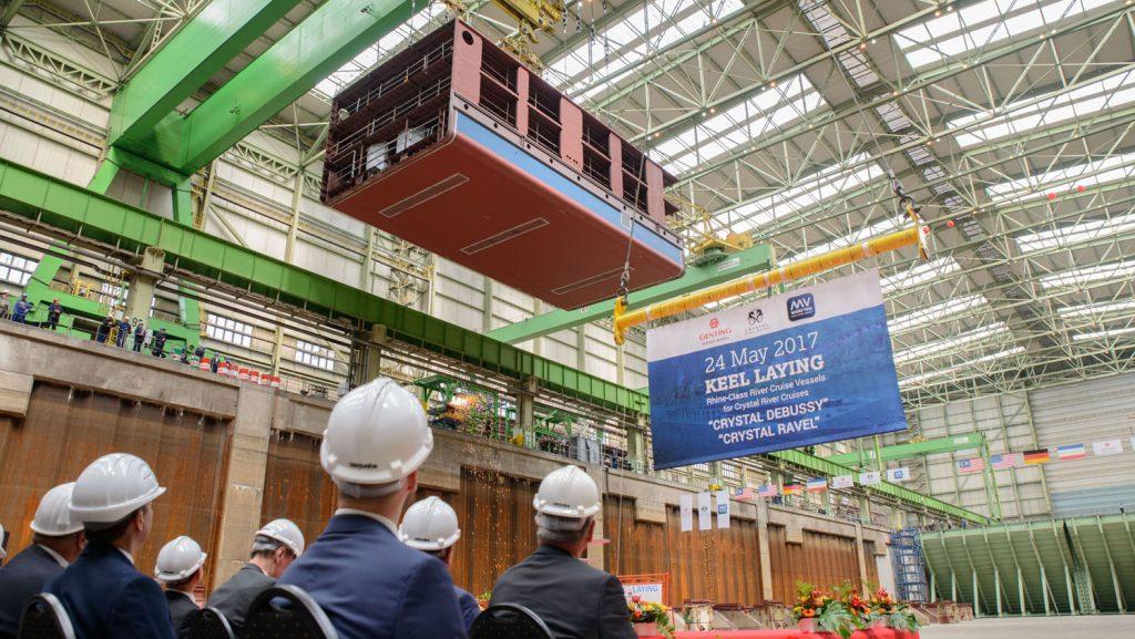 Die gut 170 Tonnen schwere Sektion. Foto: MV Werften
