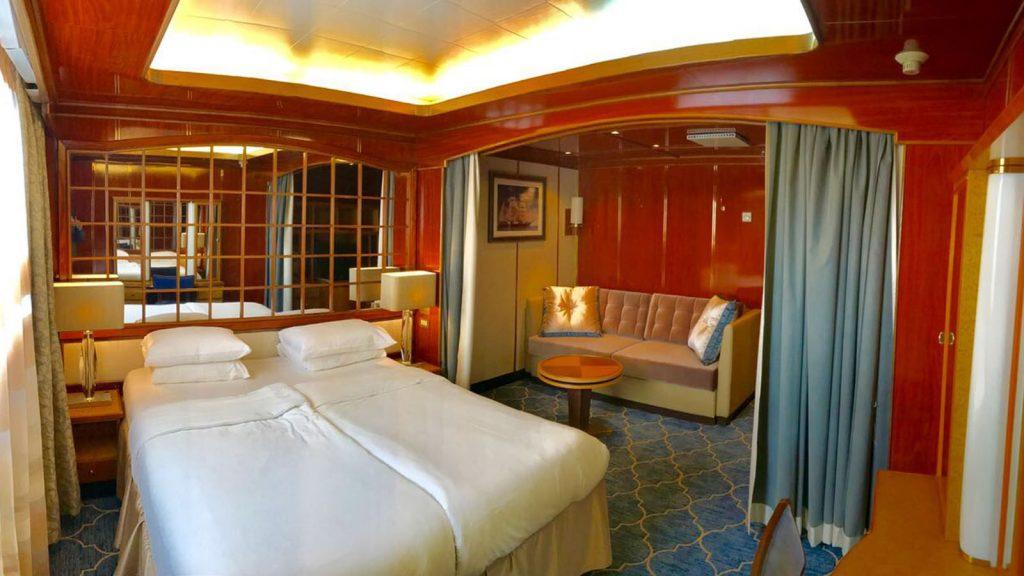 Die großzügigen Suiten an Bord der Sea Spirit. Foto: Poseidon Expeditions