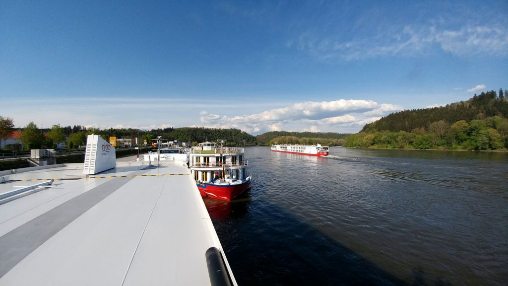 Blick auf dem Kreuzfahrtkai in Passau-Lindau. Foto: bergeest