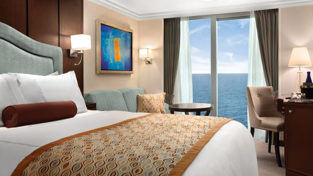 Eine Oceania Cruises O-Klasse Deluxe Oceanview Kabine. Foto: Oceania Cruises