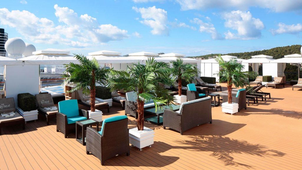 Das The Retreat auf Deck 11. Foto: Holland America Line