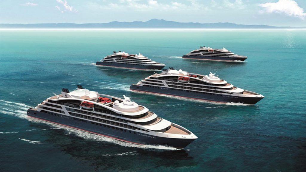 Die neue Flotte der Ponant Explorers besteht aus vier Schiffen. Foto: Ponant - Sterling Design International