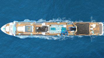 Blick auf die Norwegian Bliss. Foto: Norwegian Cruise Line