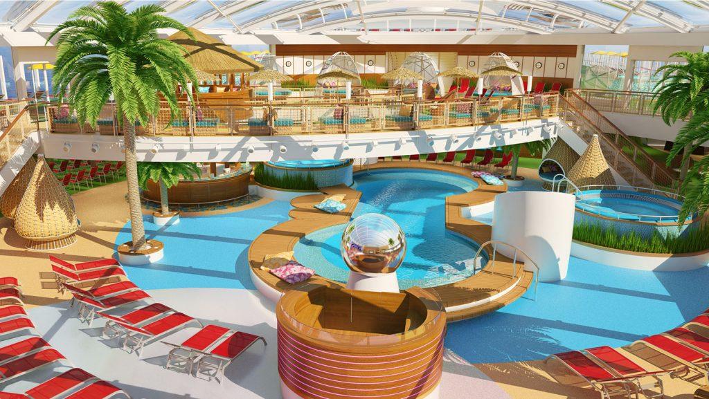 Der Beach Club an Bord der AIDAnova. Foto: AIDA Cruises
