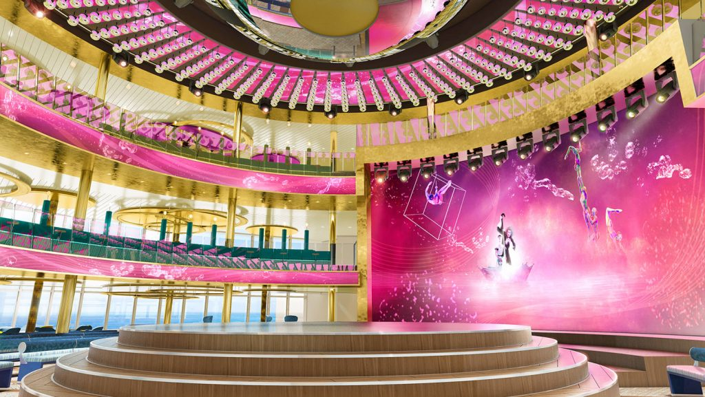360 Grad Unterhaltung im Theatrium. Foto: AIDA Cruises